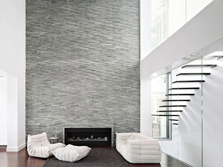 Island Stone Fireplace Chimney Breast Natural Cladding6